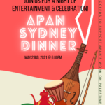 Flier for APAN Dinner - has Palestinian map and flag with details of dinner - 23 May in Sydney
